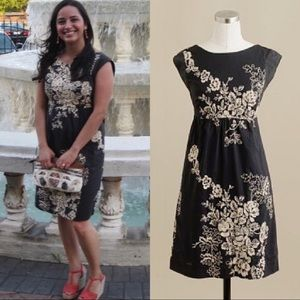 J. Crew 'Mirabel' Embroidered Floral Lined Dress